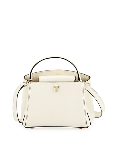 Triennale Micro Leather Top-Handle Bag