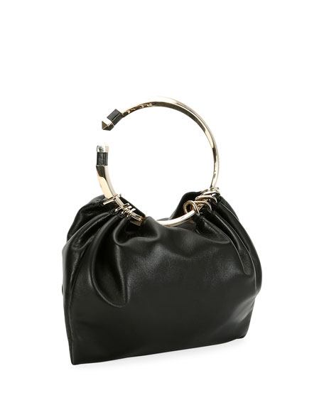 Bebop Ring Loop-Handle Clutch Bag