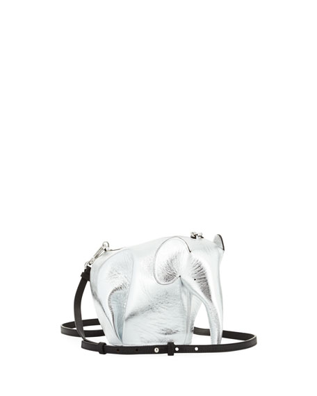 Elephant Mini Bag, Gray Metallic