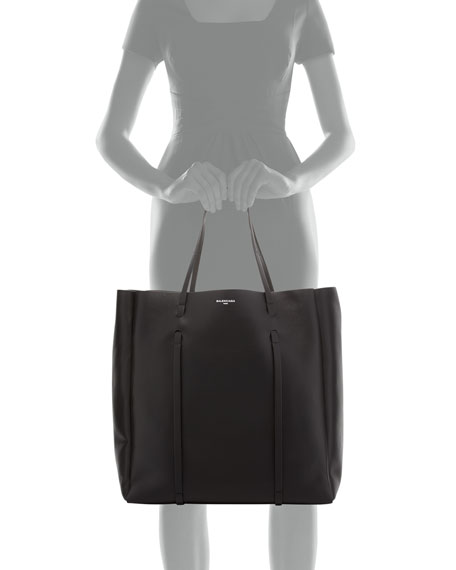 Everyday Leather Tote Bag, Black