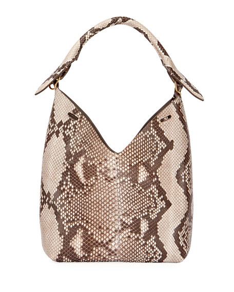 The Bucket Small Python Bag, Neutral Pattern