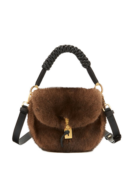 Altuzarra Ghianda Mink Fur Top-Handle Bag