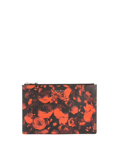 Iconic Prints Medium Floral Zip Pouch