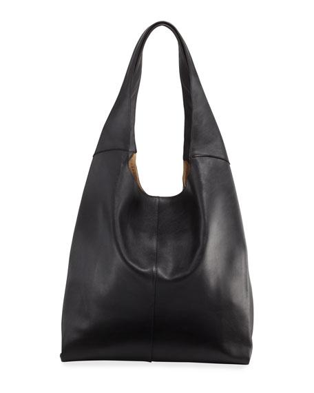 HAYWARD Grand Leather Shopper in Black