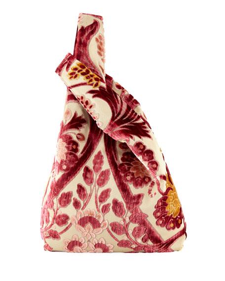 Velvet Brocade Shopper Tote Bag