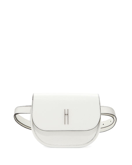 Benny Leather Crossbody Saddle Bag