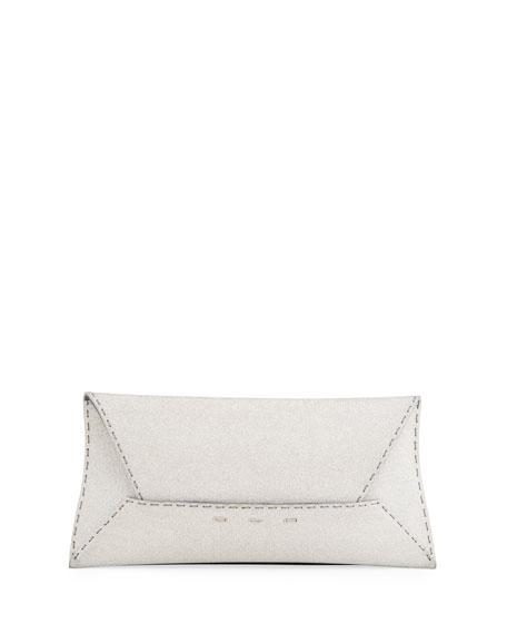 Manila Stretch Sparkle Clutch Bag, Silver