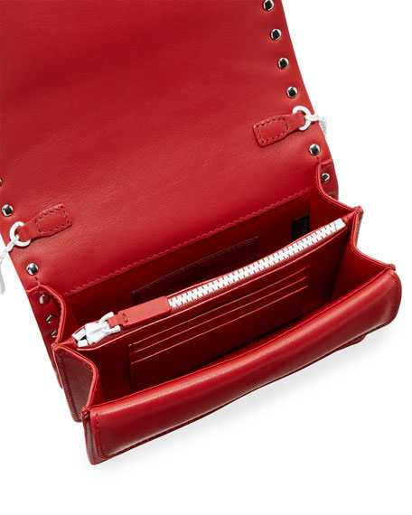 Free Rockstud Colorblock Leather Chain Shoulder Bag