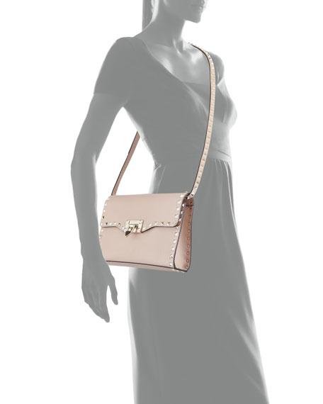 f06a63fa3d0d0 Valentino Garavani Rockstud Medium Leather Shoulder Bag