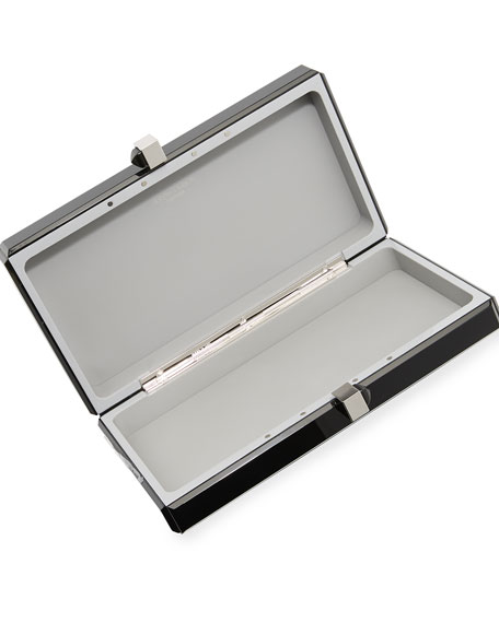 Reflection Resin Box Clutch Bag
