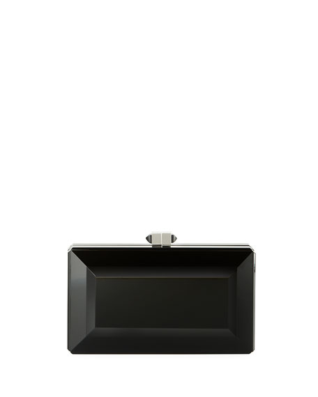 Reflection Resin Box Clutch Bag