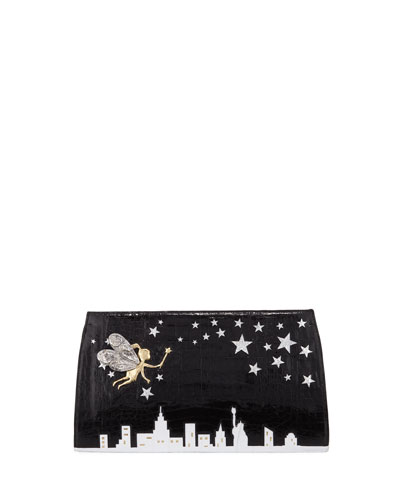 New York City Slicer Python Clutch Bag