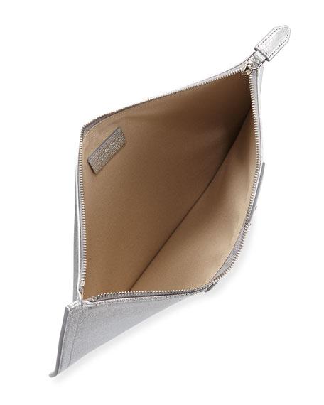 Antigona Metallic Leather Pouch Bag