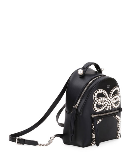 Liberty Vitello Leather Bow Backpack