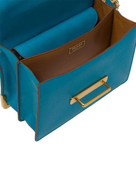 Raffia Cahier Crossbody Bag
