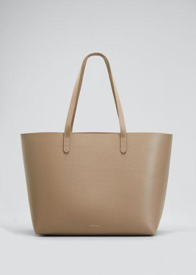 Large Saffiano Leather Tote Bag