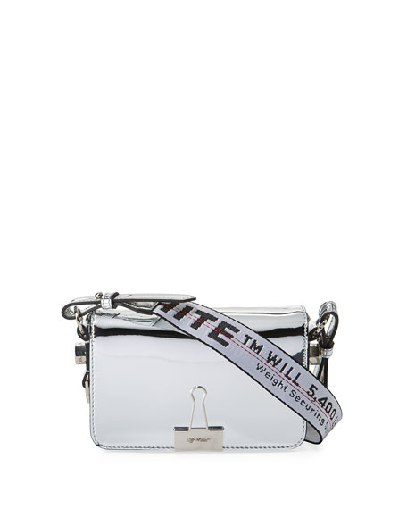 77cec2b3185e Off-White Mirror Mini Flap Crossbody Bag