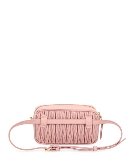Matelasse Leather Belt Bag