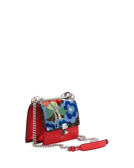 Small Kan I Embroidered Zucca Shoulder Bag