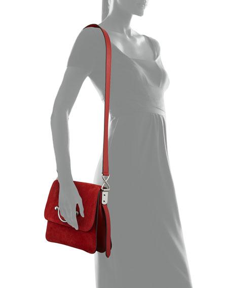 Leather & Suede Disc Shoulder Bag