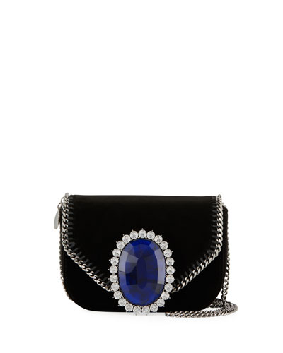 Mini Falabella Velvet Evening Box Bag