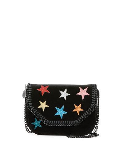 Stars Glitter Mini Falabella Box Bag