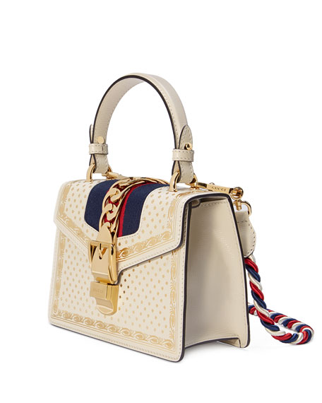 Gucci Sylvie Small Stars Leather Top-Handle Bag tXWkWU