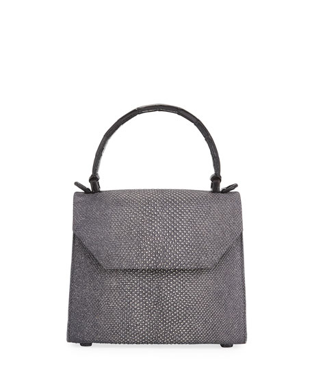 Karung Snakeskin Small Top-Handle Crossbody Bag