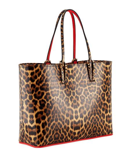 Cabata Patent Leopard Tote Bag