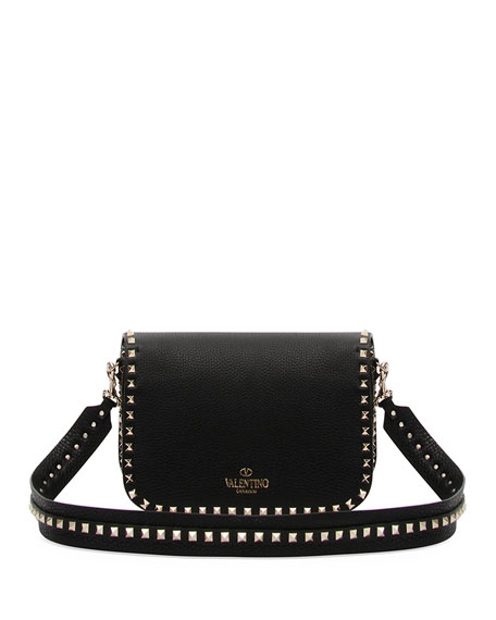 Valentino Rockstud Medium Leather Saddle Shoulder Bag Xxrb3UDt