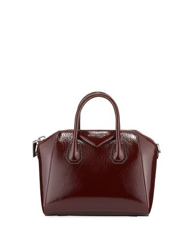 Antigona Small Patent Leather Satchel Bag