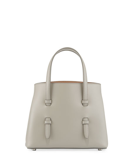 ALAIA Smooth Leather Tote Bag with Flower Strap