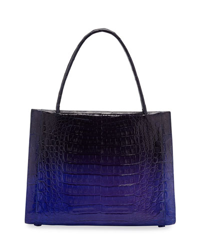 Willis Medium Crocodile Top-Handle Bag
