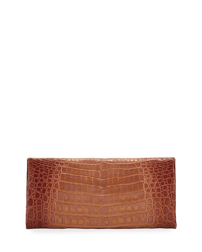 Sabre Burnished Crocodile Clutch Bag