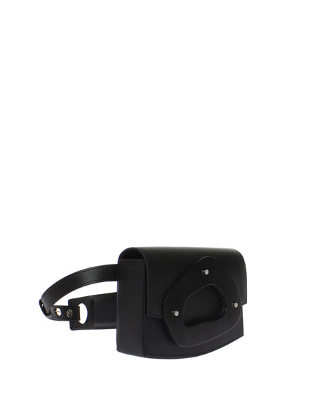 Calfskin Flap Clutch Belt Bag