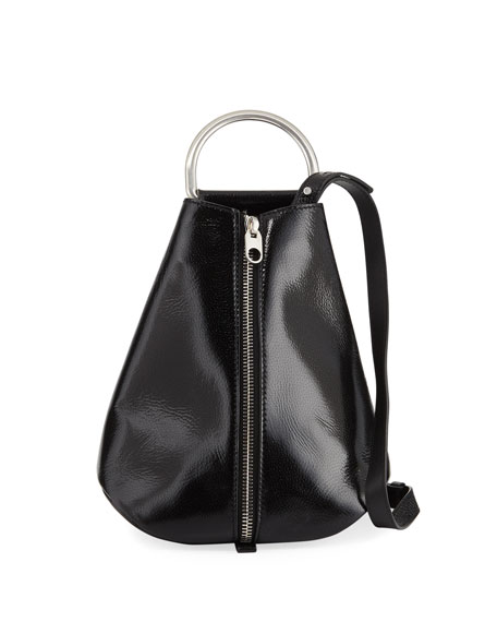Image 1 of 1: Vertical Zip Shiny Backpack