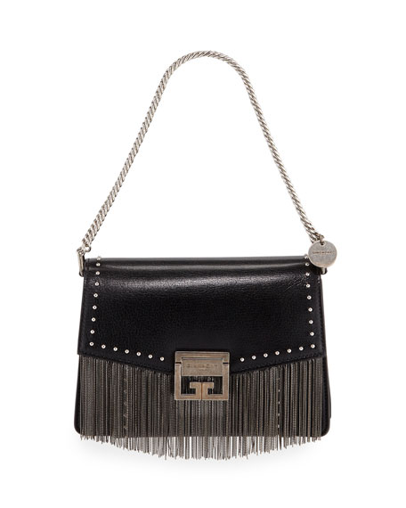 GV3 Small Fringed Leather Crossbody Bag
