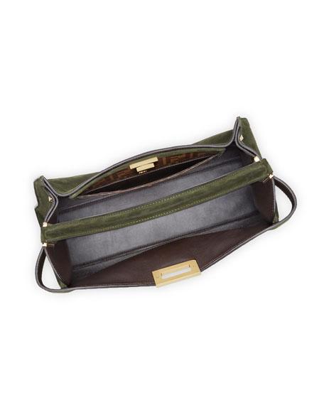 Peekaboo X-Lite Suede & Leather Satchel Bag