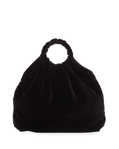Double Circle XL Velvet Handbag