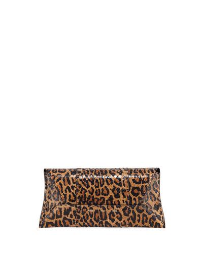 Manila Stretch T Leopard Snake Clutch Bag