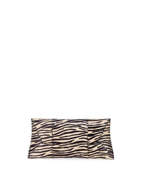 Image 1 of 1: Manila Stretch T Zebra Snake Clutch Bag