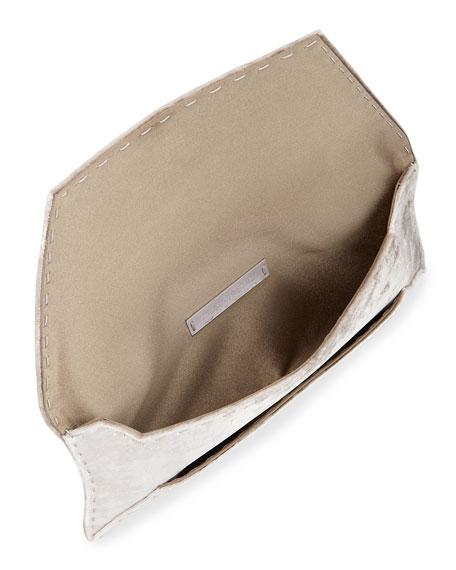 Manila Stretch T Velvet Clutch Bag, Light Gray