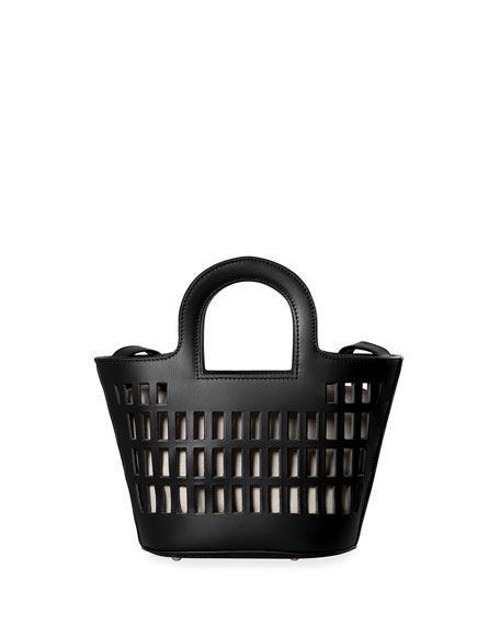 Image 1 of 1: Comado Extra-Small Cutout Leather Tote Bag