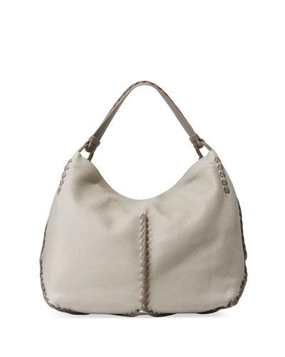 Leather Cervo Hobo Bag