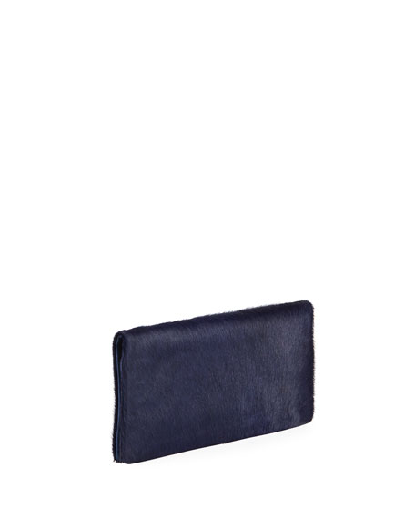 Nicole Calf-Hair Evening Clutch Bag