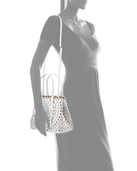 Mina Small Vienne Flower Lux Tote Bag