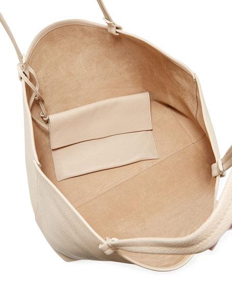 Park Large Fine-Grain Leather Shoulder Tote Bag