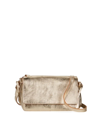 Soffietto Metallic Leather Crossbody Bag