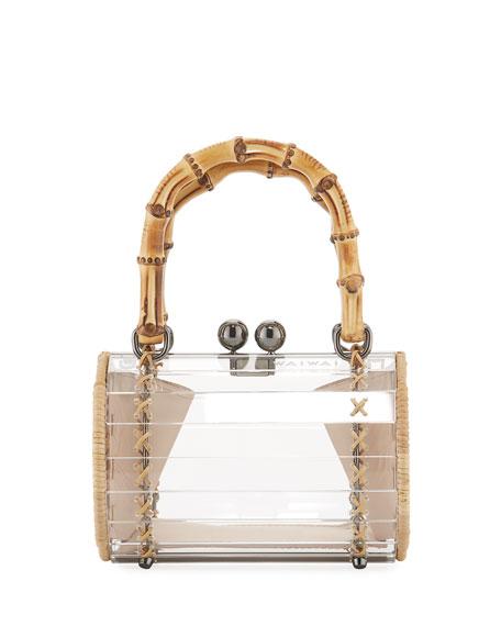 Alix Acrylic Bamboo-Top Handle Bag