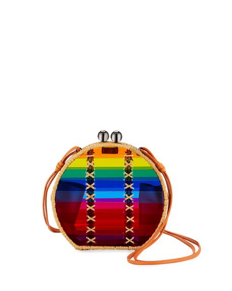 Jabuticaba Rainbow Acrylic Crossbody Bag